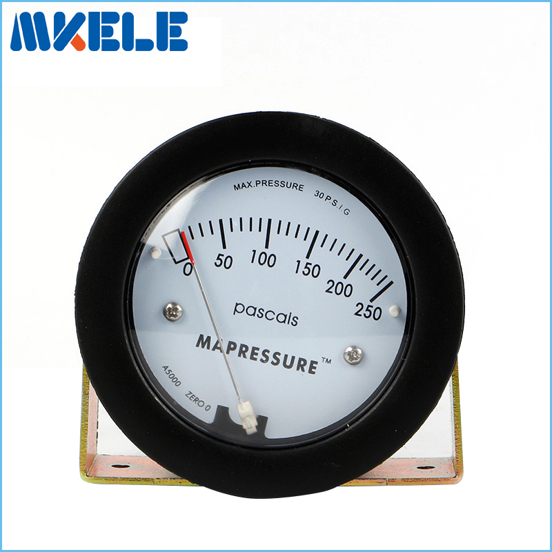 Air Differential Pressure Meter TE5000 0-250Pa Mini Size Easy to Mounting Pointer -68 ~ 103KPa Air Differential Pressure Gauge
