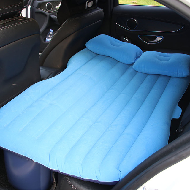 Car Inflatable Mattress Seat Travel Bed Air Cushion Outdoor Beds Sofa With Pump