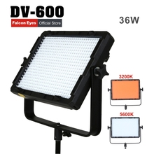 лучшая цена Falcon Eyes 600pcs 36W 3200/5600K Bi-Color LED Panel Fill Light Dimmable for Photography Video Film Interview Shooting DV-600