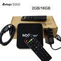 Caixa De Tv Amlogic MXQPro Cortex-A53 S905 Quad-Core Android 5.1 2 gb/16 gb KODI 4 K caixa de Smart tv 3D 2.4 GHz WiFi 1000 M LAN Media Player