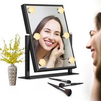 High Definition Clarity Cosmetic Mirror Adjustable Rotation Lighted Makeup Mirror LED bulbs Vanity Mirror With Hollywood style
