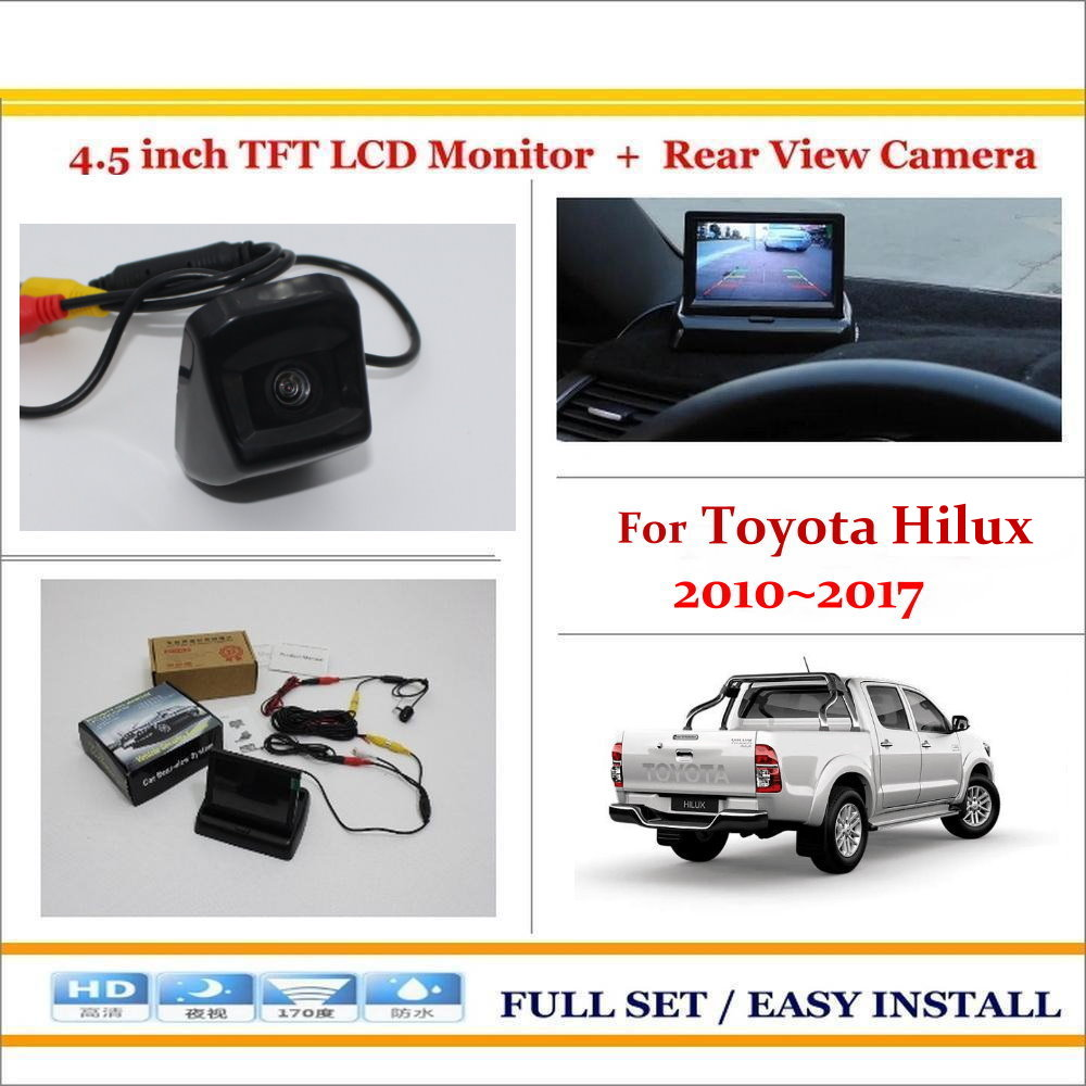 For Toyota Hilux 2010~2017 - Auto Parking Back UP Reverse Camera + 4.3 Color LCD Monitor = 2 in 1 Rearview Parking System