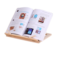 MIRUI Wooden Frame Reading Bookshelf Bracket Book Reading Bracket Tablet PC Support Music Stand Wooden Table Drawing Easel