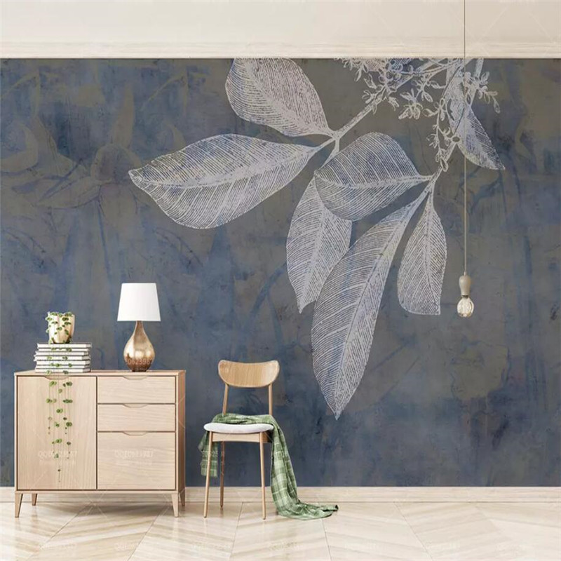 Fashion line leaves Nordic texture TV background wall professional production murals wholesale wallpaper custom photo wall in Fabric Textile Wallcoverings from Home Improvement