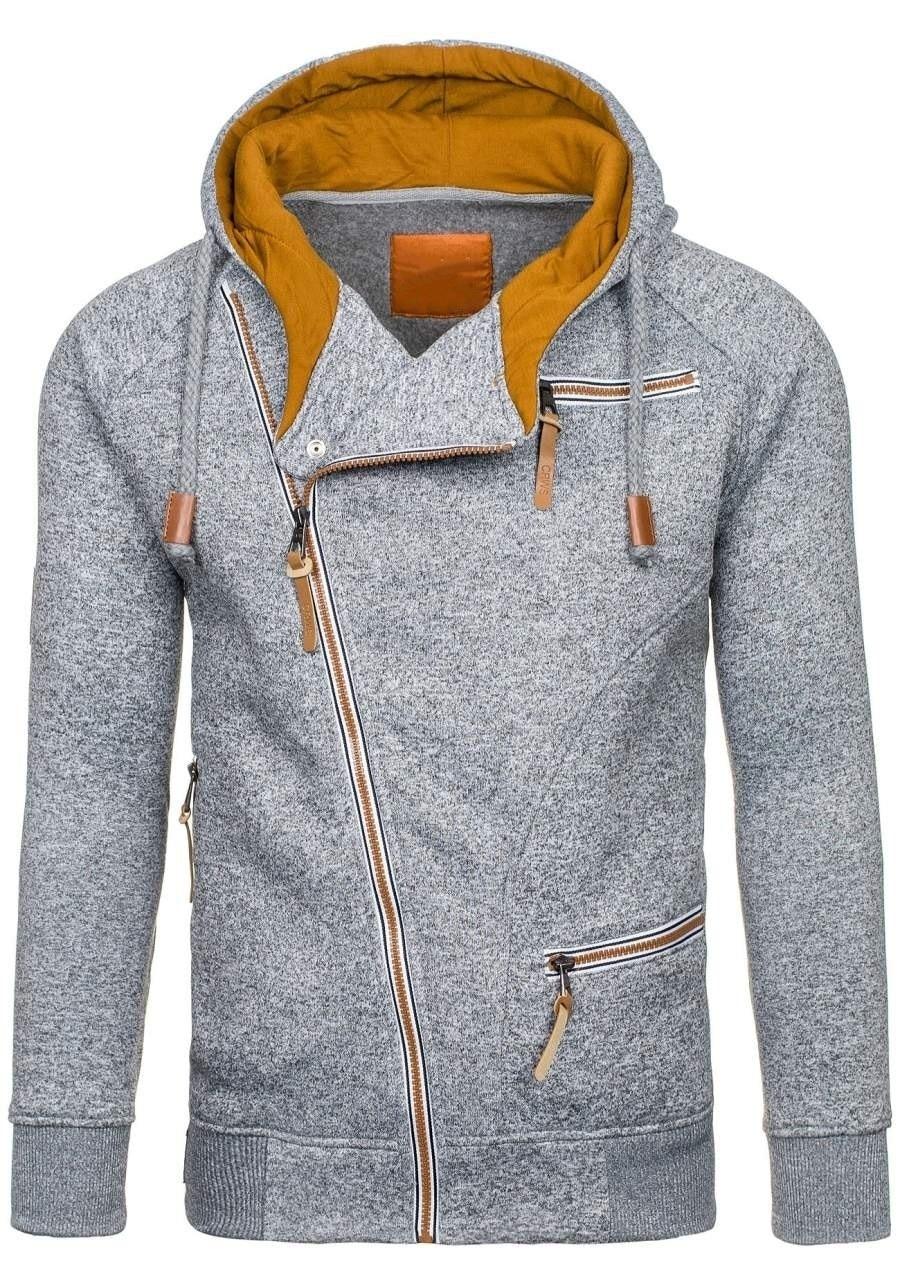 HTB1FR5MXLjsK1Rjy1Xaq6zispXaL - Men Hoodies Sweatshirt 2019 Spring New Unique Diagonal Zipper Fashion Simple Loose Casual Hooded Streetwear Men Tracksuits Coat