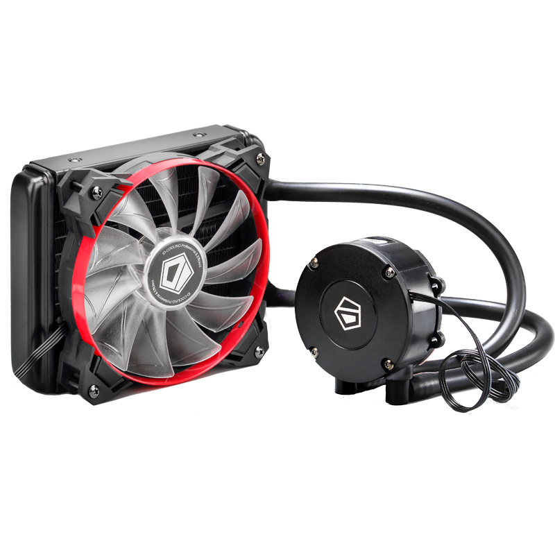 ID-COOLING Frostflow 120 Integrated Water-cooled CPU Cooler Full Platform Single Row Red And Black Fan Version