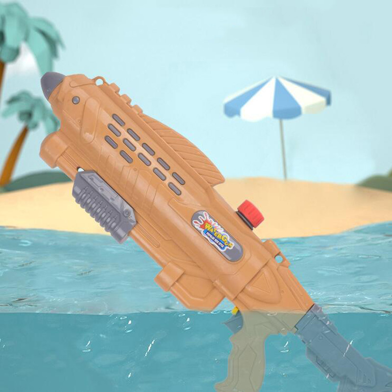 1PCS Children Eat Chicken Game Single Nozzle Water Gun Summer Children's Beach Toys Pull-Type Water Gun Toy Boy Birthday Gift