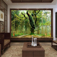 Home Decor Photo Backdrops Wallpaper For Living Room Peacock Tree Deer Office Bathroom Hotel Wall Mural