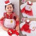 Vestido de la Princesa Niña Mameluco Mameluco Jumper Ropa Infantil de Verano Niña Dama de malla de Lentejuelas
