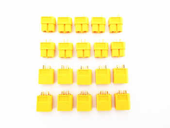 200pcs (100 Pairs) XT60 3.5mm Golden Connector LiPo Battery Plug Male & Female Connectors for for RC Quad