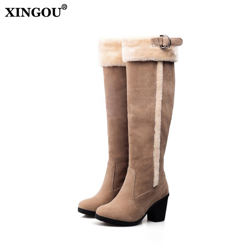 New long boots women fashion soft leather women's boots elegant knee high boots 2017 winter boots women comfortable shoes women 2016 new fashion winter knee high boots high quality personality knee high boots comfortable genuine leather boots