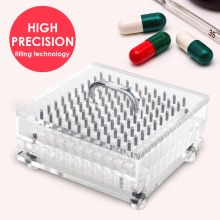 100 holes manual capsule filler/encapsulator machine size 3 , suitable for the separated capsule. цена и фото