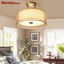 Потолочный светильник в фойе Лампа потолочная для кухни Потолочные светильники для гостиной светодиодная люстра потолочная для спальни стеклянное освещение в интерьере латунная лампа для кухни led лампа с абужуром