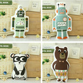 Kids stuffed robot toys panda toy bear toy cute animals soft toy home decorative toy birthday Christmas gift 1pcs free shiping