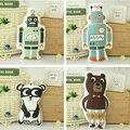 Niños panda de peluche juguetes robot de juguete osito de peluche animales lindos juguete suave decoración del hogar de cumpleaños del juguete de regalo de Navidad 1 unids envío shiping