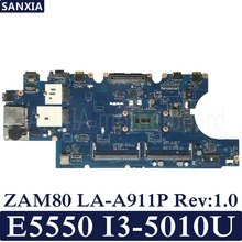 KEFU ZAM80 LA-A911P Rev:1.0 Laptop motherboard for Dell Latitude E5550 Test original mainboard I3-5010U