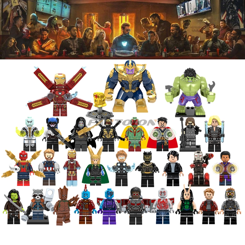 Wholesale 50/100Pcs Lot Legoingly Super Heroes & Star Wars Figures Random & Choose Legoinged Building Block With Whole Catalog fortec catalog