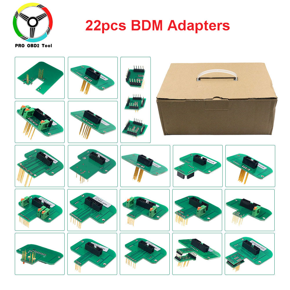 2019 Full Set 22pcs BDM Adapters For KTAG KESS FGTECH BDM100 BDM Probe Adapters LED BDM