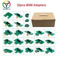 2019 Full Set 22pcs BDM Adapters For KTAG KESS FGTECH BDM100 BDM Probe Adapters LED BDM Frame ECU RAMP Chip Tuning Tool