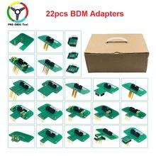 22 pces bdm adaptadores conjunto completo bdm quadro para ktag kess fgtech bdm100 adaptadores de ponta de prova led ecu rampa chip tuning tool 22pcs adaptador