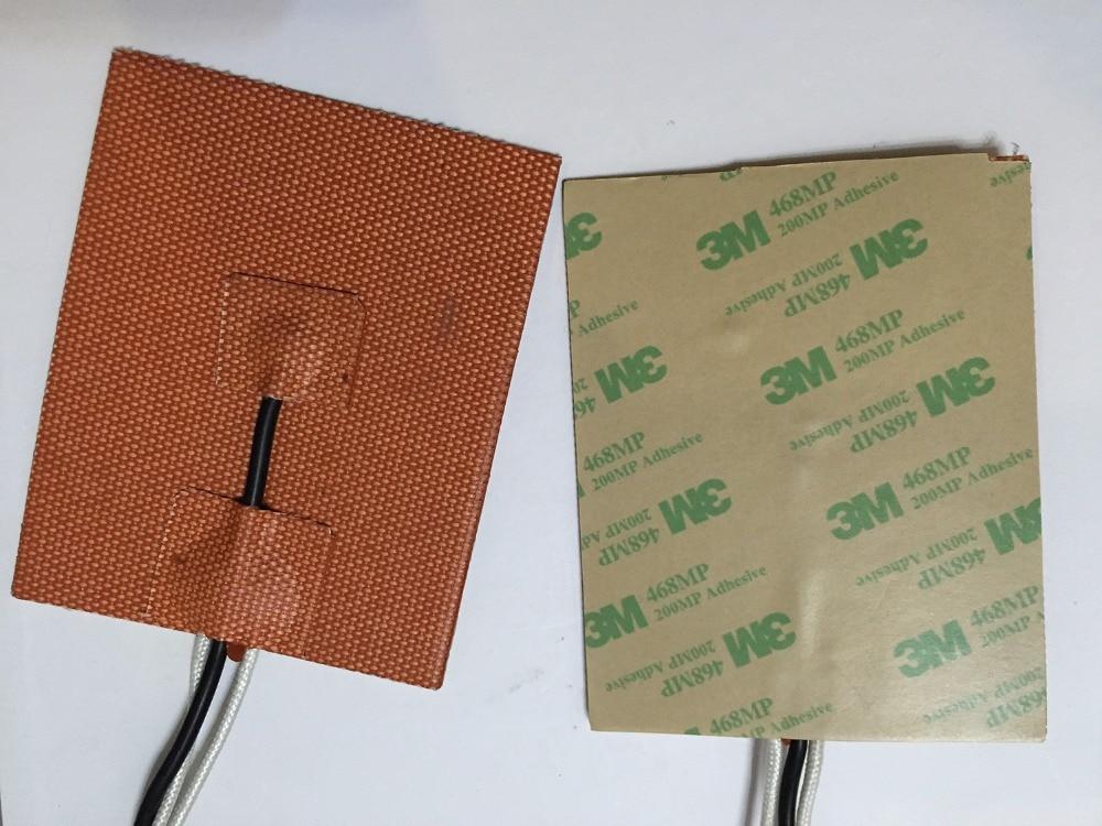 Silicone stampante 3d letto riscaldato 480*450mm 110 v 1000 w 3m adhesive ntc 100 k termistore filo di piombo oil heater