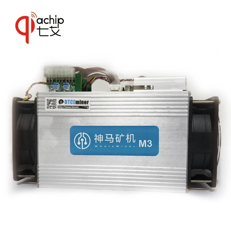 QiaChip Mineur WhatsMiner M3 + PSU 11.5TH/S 0.17 kw/E mieux que Antminer S9 Avec PSU BTC BCH mineur Asic Bitcoin