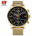 2016 TTLIFE Brand Large Dial Men Watch Clock 8227 New Business Gold Quartz Watches Men Waterproof Relogio Masculino Wrist Watch