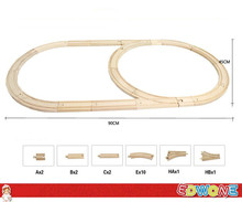 Thomas and Friends 1Set 18PCS Double Loops Thomas Train Wooden Track Railway Color Bridge Track For