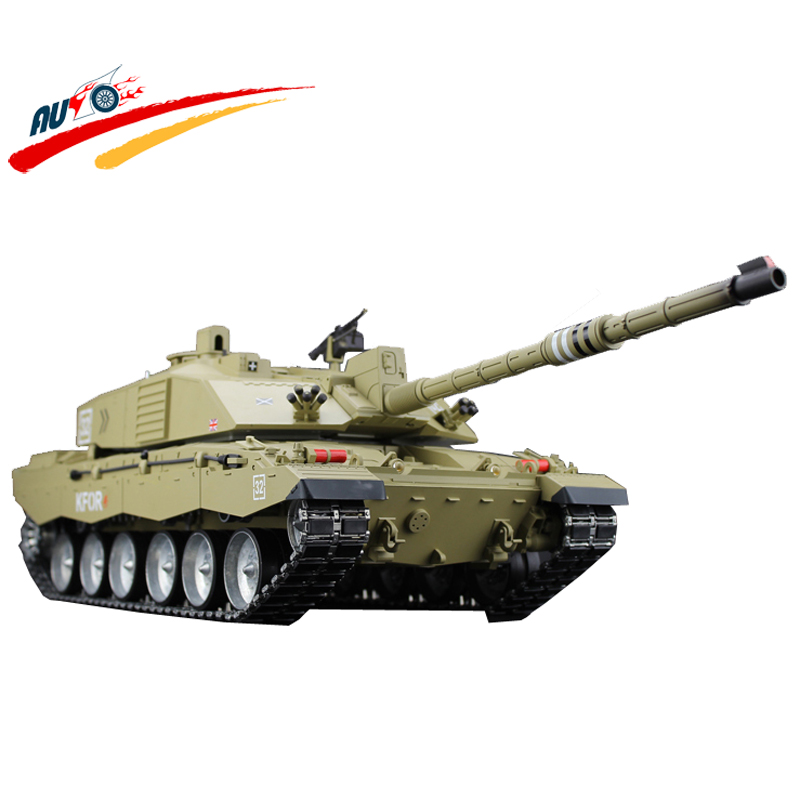 RC Tank British Challenger 2 Main Battle Tank 15CH Radio Control Full Function with BB+Smoking+Sound Electronic Tank Model Toy лодка intex challenger k1 68305