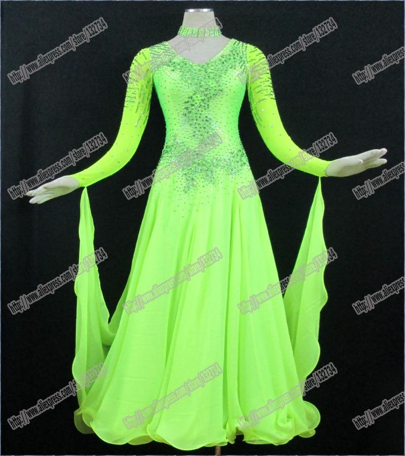 High Quality Waltz Tango dance Dress competitive Ballroom dance dress, crystal stones chacha,salsa dance ballroom dress B-0092