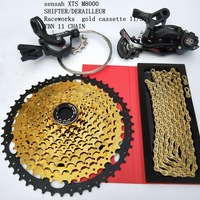 11 Speed MTB Groupset 50T Gold Cassette Shifter Rear Derailleur Gear Chain Mountain Bike 1*11S Group set For SRAM Shimano M8000