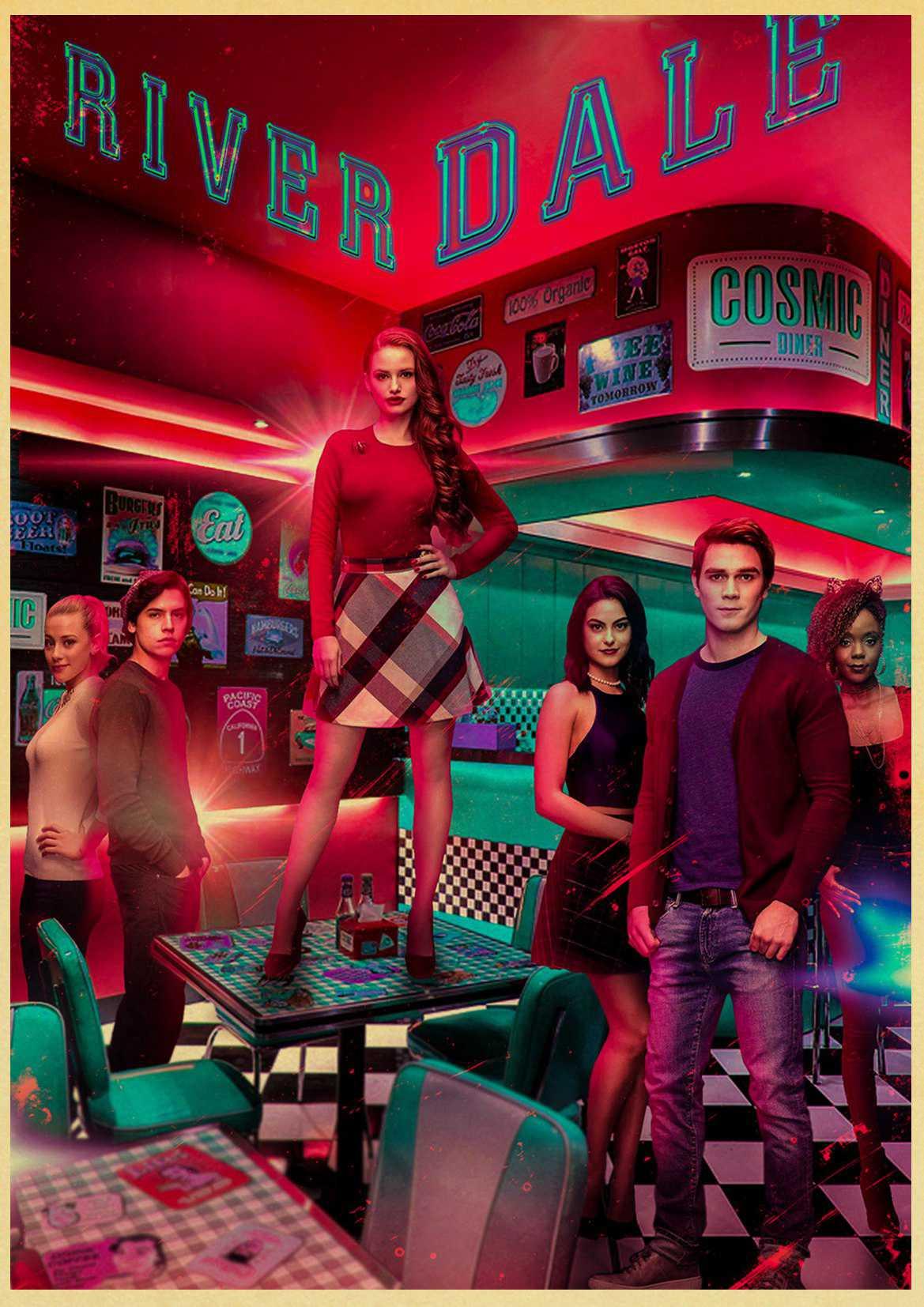 TV Series riverdale poster Kraft Paper art Poster Bar Cafe