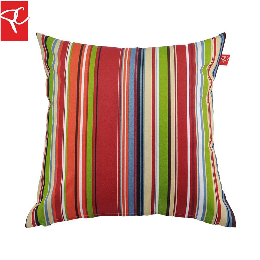 PC 2pcs/set Outdoor Simple Striped Throw Pillows 45cm*45cm Toss Pillow Home  Decorative