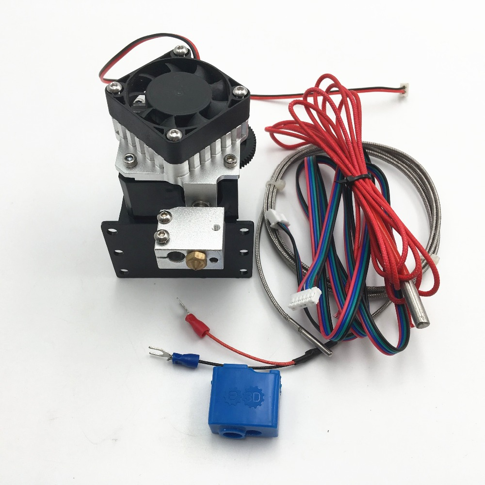 Volcano Titan Aero extruder kit for DIY reprap Anet 3D printer K Thermocouple Type 1 75mm 3mm 0 4mm nozzle volcano titan aero extruder kit for diy reprap anet 3d printer pt100 type