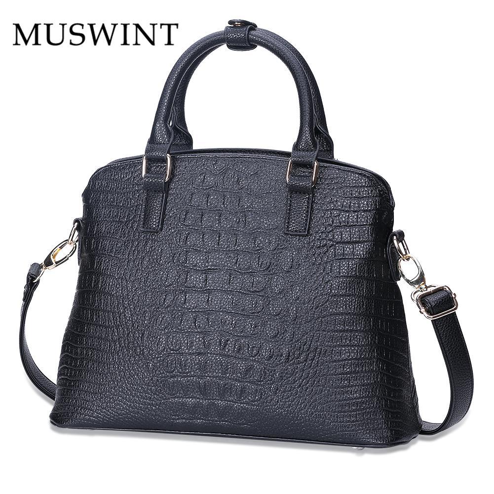 ФОТО MUSWINT Brand New High Quality Leather Ladies Bag Vintage Handbag Bag Women Shoulder Bag Female Bolsas Crossbody Bag 3pcs/set