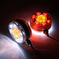 2pcs Chrome Red White Amber 24 LED Side Maker Lights For SCANIA DAF MAN RENAULT 24V