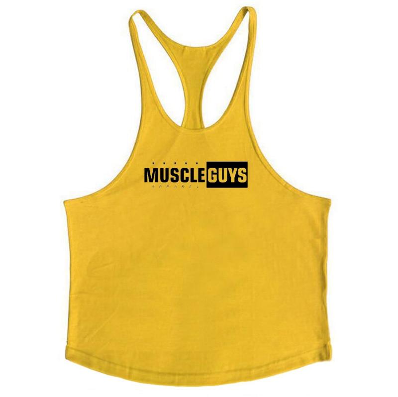 Muscleguys Brand Fitness Clothing Bodybuilding Tank Top Men Gyms Stringer Singlet Cotton Sleeveless shirt Workout Man Undershirt 49