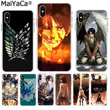 MaiYaCa ataque titan alas de la libertad Anime de color adorable teléfono funda para iPhone 8 7 6 6S Plus X XS X max 10 5 5S SE XR(China)