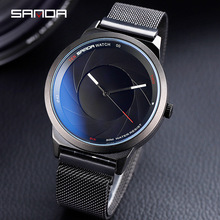 2019 Mens Sports Watches Fashion Creative Men Top Brand Luxury Quartz Clock Magnet Mesh Waterproof Wrist Watch Relogio Masculino цена и фото