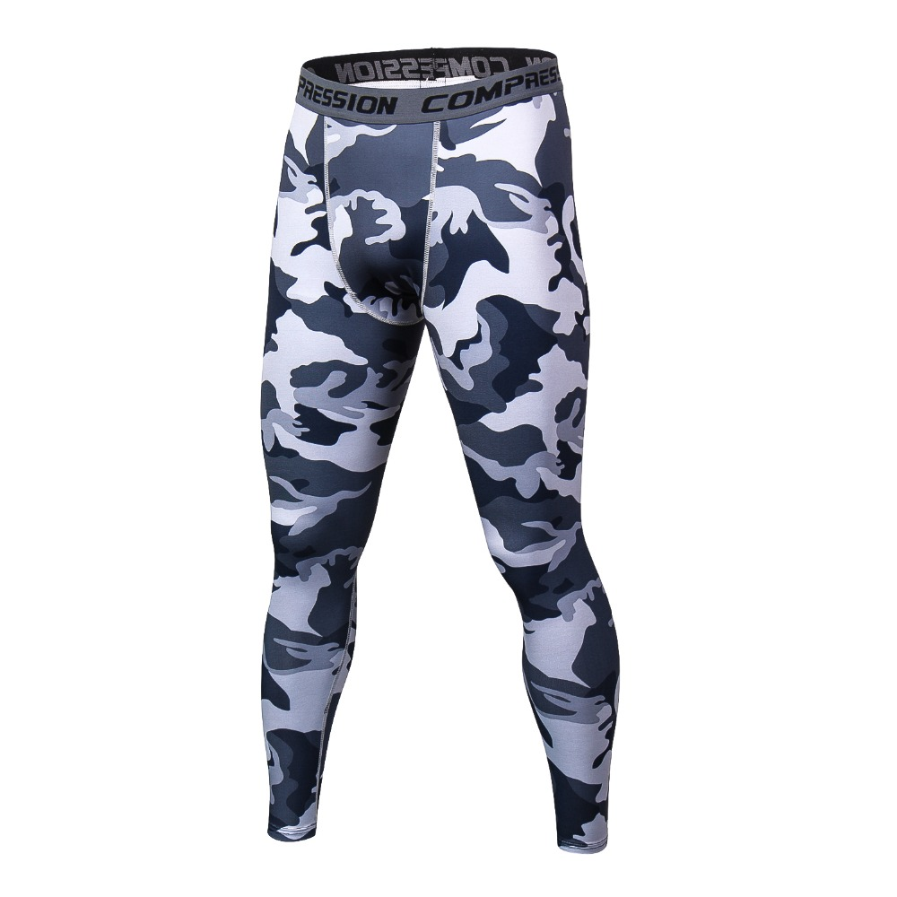 2018 Men Compression Pants Casual Tights Camouflage Pants Bodybuilding Mans High Elasticity Joggers Crossfit Skinny Leggings