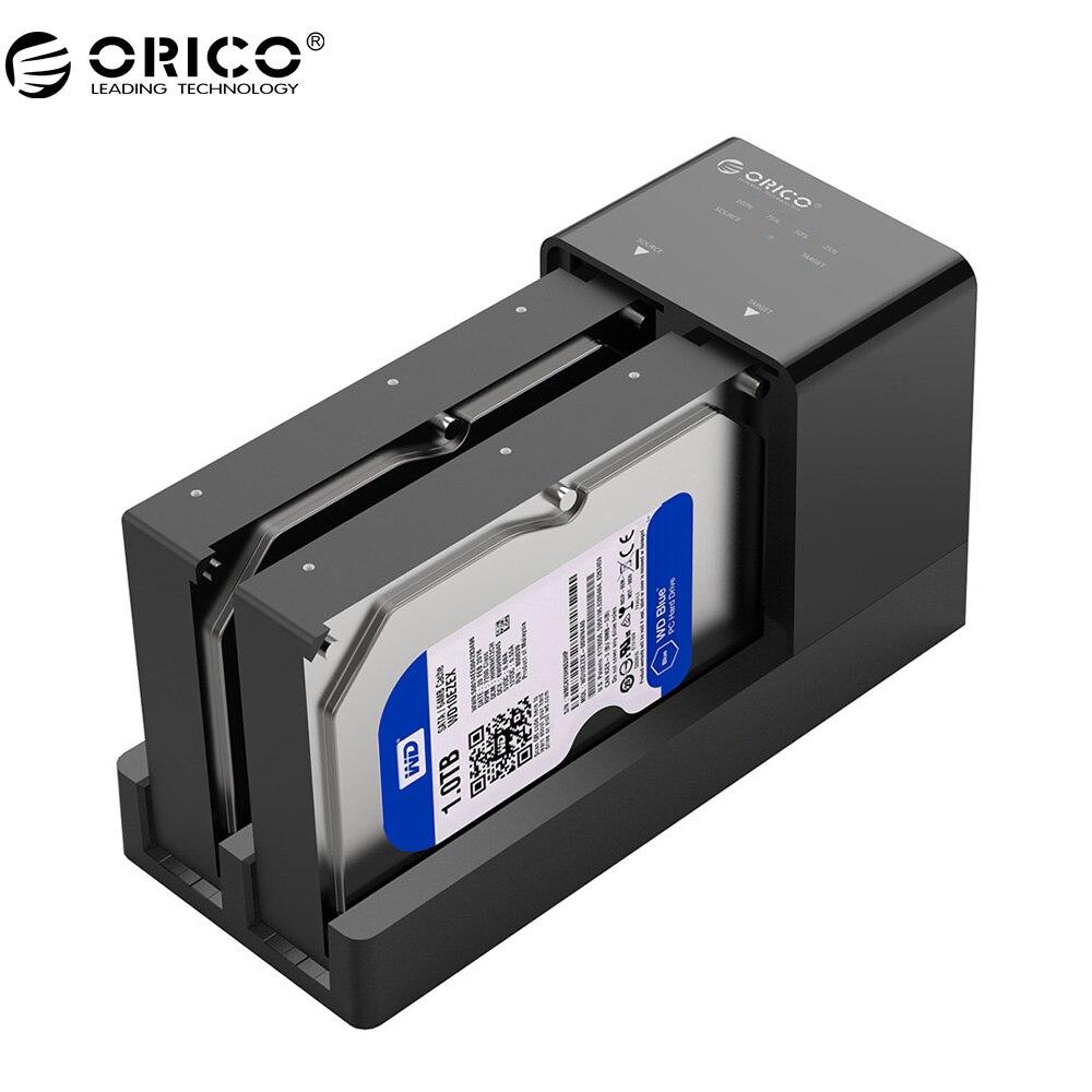 ORICO 6528US3 USB3.0 HDD Station D'accueil 3.5/2.5 pouce Hdd SSD Boîtier Bay 12 V 4A Alimentation Soutien Clone UASP 10 TB