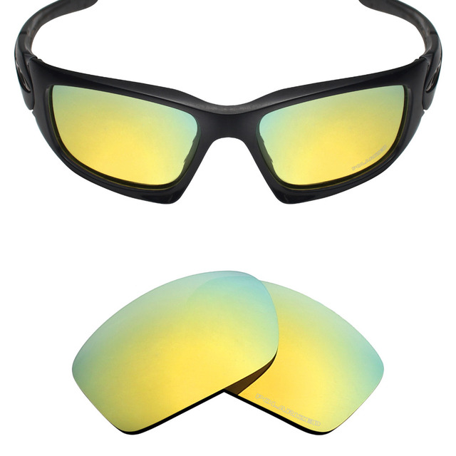 1e346ed84aa Mryok+ POLARIZED Resist SeaWater Replacement Lenses for Oakley Scalpel  Sunglasses 24K Gold