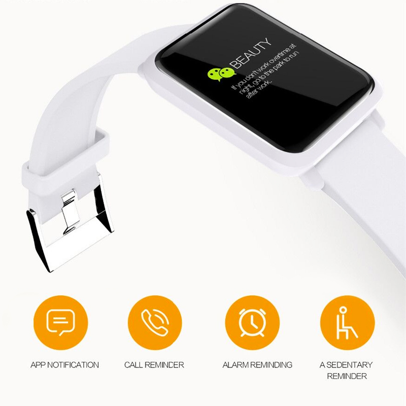 Image 3 - ONEVAN M28 Smart Watch Heart Rate Monitor Bracelet Blood Pressure Fitness Tracker IP67 Waterproof Multi Sport Mode Smart Band-in Smart Wristbands from Consumer Electronics