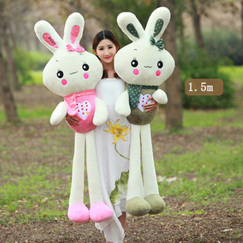 Fancytrader Big Soft Cut Bunny Plush Toy Stuffed Huge Giant Rabbit Doll Pillow Toys for Children 28inch giant bunny plush toy stuffed animal big rabbit doll gift for girls kids soft toy cute doll 70cm