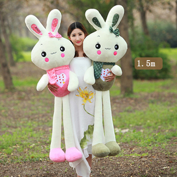 Fancytrader Big Soft Cut Bunny Plush Toy Stuffed Huge Giant Rabbit Doll Pillow Toys for Children
