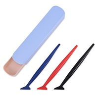 EHDIS 3pcs Vinyl Squeegee Vinyl Car Wrap Tools Window Cleaning Tool Glass Water Glue Remove Scraper