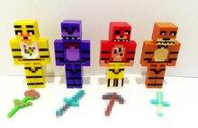 Hot New 4pcs set Minecraft Five Nights At Freddy s 4 FNAF Foxy Chica Bonnie Freddy