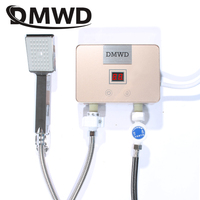 DMWD 5500W Instantaneous Hot Faucet Water Heater Mini Watering Tap Electric Tankless Kitchen Bathroom Thermostat Heating