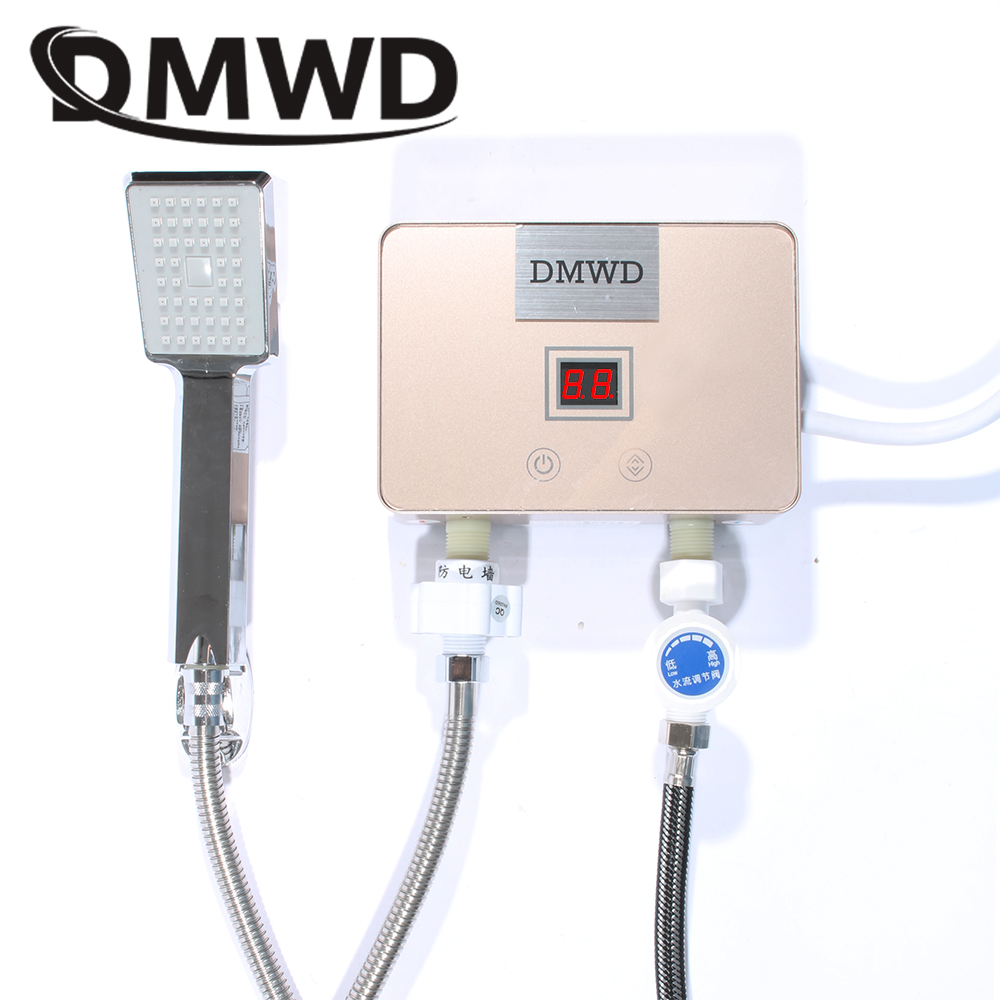 DMWD 5500W Instantaneous Hot Faucet Water Heater Mini Watering Tap Electric Tankless Kitchen Bathroom thermostat Heating Shower vivetta блузка