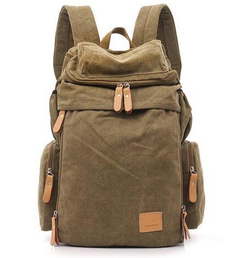 Military Canvas Backpack Backpack Canvas Backpack Male School Bag Travel Backpack Bag Rucksack Mochila